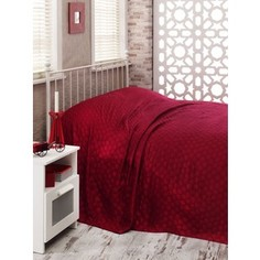 Покрывало Hobby home collection 2-х сп, бамбук, Diamond spot, бордовый (1501000364)