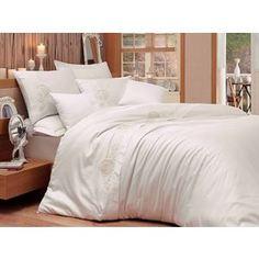 Комплект постельного белья Hobby home collection Евро, сатин, Antonia, кремовый (1607000002)