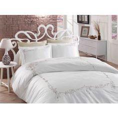 Комплект постельного белья Hobby home collection Евро, сатин, Sarita, бежевый (1607000084)