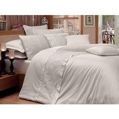 Комплект постельного белья Hobby home collection Евро, сатин, Reyna, кремовый (1607000075)