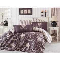 Комплект постельного белья Hobby home collection Евро, сатин, Ornella, бежевый (1501001141)
