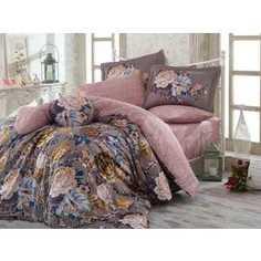 Комплект постельного белья Hobby home collection Семейный, сатин, Rosanna, серый (1501001156)