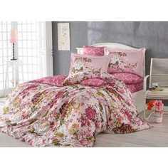 Комплект постельного белья Hobby home collection Семейный, сатин, Rosanna, розовый (1501001155)