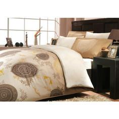 Комплект постельного белья Hobby home collection Семейный, сатин, Alice, золотой (1501000292)