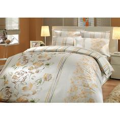 Комплект постельного белья Hobby home collection Евро, сатин, Arabella, коричневый (1501000295)