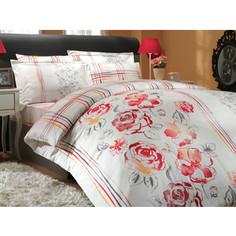 Комплект постельного белья Hobby home collection Евро, сатин, Arabella, красный (1501000296)