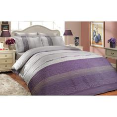 Комплект постельного белья Hobby home collection Семейный, сатин, Denim, лиловый (1501000304)