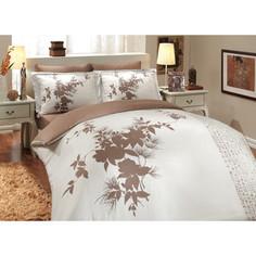 Комплект постельного белья Hobby home collection Семейный, сатин, Estate, коричневый (1501000308)