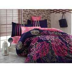 Комплект постельного белья Hobby home collection Евро, сатин, Fiorella, рояль (1607000051)