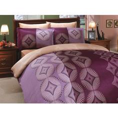 Комплект постельного белья Hobby home collection Семейный, сатин, Gris, фиолетовый (1501000312)
