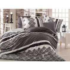 Комплект постельного белья Hobby home collection Семейный, сатин, Lisa, черный (1501000993)