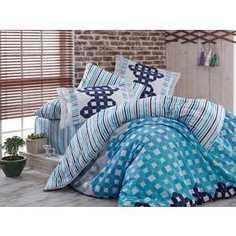 Комплект постельного белья Hobby home collection Евро, сатин, Marsella, синий (1501000944)