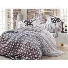 Комплект постельного белья Hobby home collection Евро, сатин, Marsella, черный (1501000945)