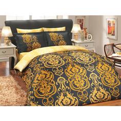 Комплект постельного белья Hobby home collection Семейный, сатин, Monart, золотой (1501000318)