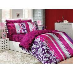 Комплект постельного белья Hobby home collection 1,5 сп, сатин, Oriental, фуксия (1607000147)