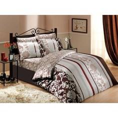 Комплект постельного белья Hobby home collection Семейный, сатин, Oriental, коричневый (1501000996)
