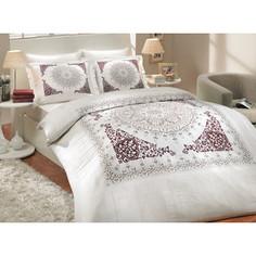 Комплект постельного белья Hobby home collection Семейный, сатин, Saphire, бордовый (1501000322)