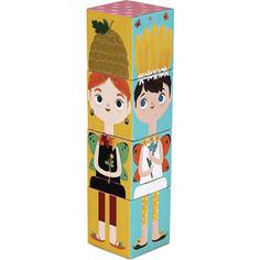 Krooom Игрушки из картона: Stack&Match кубики Лесные феи (k-441)