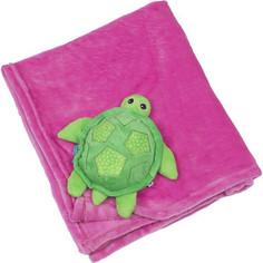 Zoocchini Одеяло с игрушкой Черепашка / розовое (00515)