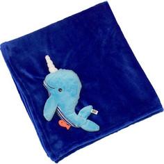 Zoocchini Одеяло с игрушкой Кит / синее (00518)