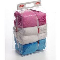 Полотенце Hobby home collection Dora 70x140 см белый/розовый/бирюзовый (1501000454)