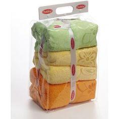 Полотенце Hobby home collection Dora 70x140 см желтый/оранжевый/зеленый (1501000455)