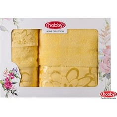 Набор из 3 полотенец Hobby home collection Dora 30x50/50x90/70x140 желтое (1501001216)
