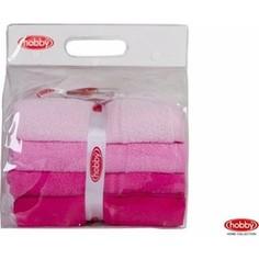Набор из 4 полотенец Hobby home collection Rainbow 50x90 см 4 штуки розовый (1501001198)