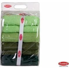 Набор из 4 полотенец Hobby home collection Rainbow 70x140 см 4 штуки зеленый (1501001202)