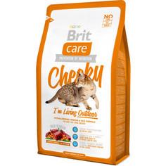 Сухой корм Brit Care Cat Cheeky Outdoor гипоаллергенный с олениной и рисом для активных кошек и кошек гуляющих на улице 2кг (132613) Brit*