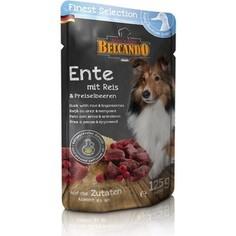 Паучи Belcando Finest Selection Duck with Rice & Lingonberry с уткой, рисом и брусникой для собак 125г (511605)