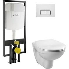 Унитаз с инсталляцией Vitra Normus с микролифтом, кнопка хром (9773B003-7200)