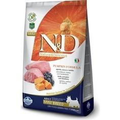Сухой корм Farmina N&D Adult Dog Mini GF Pumpkin Lamb & Blueberry беззерновой с ягненком черникой и тыквой для собак мелких пород 800г (33208)