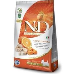 Сухой корм Farmina N&D Adult Dog Mini GF Pumpkin Codfish & Orange беззерновой с треской апельсином и тыквой для собак мелких пород 2,5кг (33314)