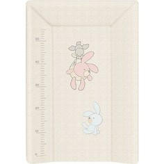 Матрас пеленальный Ceba Baby (Себа Беби) 70 см мягкий с изголовьем Bunnies grey W-103-068-260