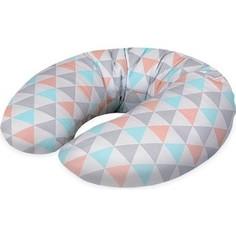 Подушка для кормления Ceba Baby Mini (Себа Беби Мини) Triangle turquoise-orange трикотаж W-702-067-016