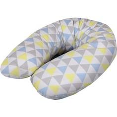 Подушка для кормления Ceba Baby Multi (Себа Беби Мульти) Triangle blue-yellow трикотаж W-741-067-019