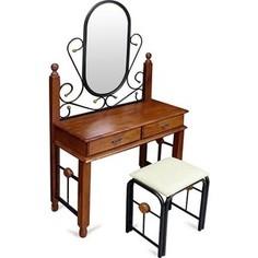Столик туалетный TetChair AT-992 (DT-5), цвет черный/красный дуб