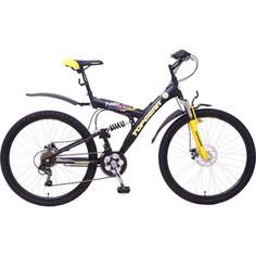 Top Gear Велосипед 26 Neon 225, 18 скоростей, матовые цвета черный/желтый (ВН26417)