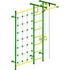 Детский спортивный комплекс Пионер С3С зелёно/жёлтый