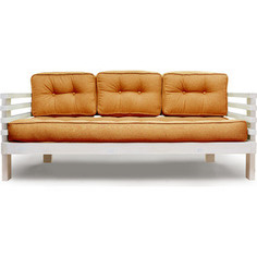 Диван Anderson Стоун бел дуб-оранжевая рогожка