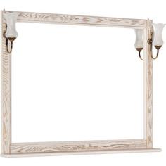Зеркало Aquanet Тесса 105 жасмин, золото, массив дуба (185817)