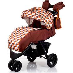 Коляска прогулочная BabyHit Voyage Air Коричневый с оранжевым (VOYAGE AIR BROWN-ORANGE)