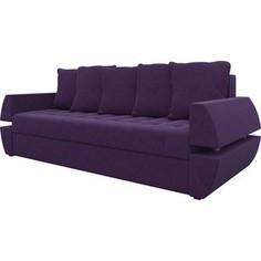 Диван-еврокнижка АртМебель Атлант Т микровельвет фиолетовый
