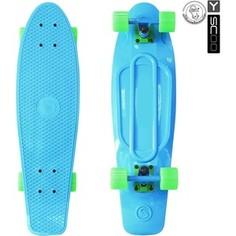 RT 401-B Скейтборд Fishskateboard 22 винил 56,6х15 с сумкой BLUE/green
