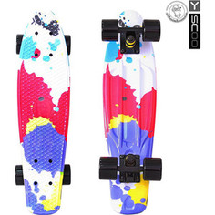 RT 401G-Sp Скейтборд Fishskateboard Print 22 винил 56,6х15 с сумкой Splatter