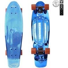RT 402H-Bl Скейтборд Big Fishskateboard metallic 27 винил 68,6х19 с сумкой BLUE/brown