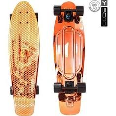 RT 402H-O Скейтборд Big Fishskateboard metallic 27 винил 68,6х19 с сумкой ORANGE/black