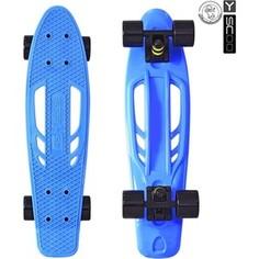 RT 405-B Скейтборд Skateboard Fishbone с ручкой 22 винил 56,6х15 с сумкой BLUE/black