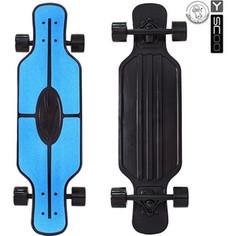 RT 408-B Скейтборд Longboard Shark TIR 31 пластик 79х22 с сумкой BLUE/black